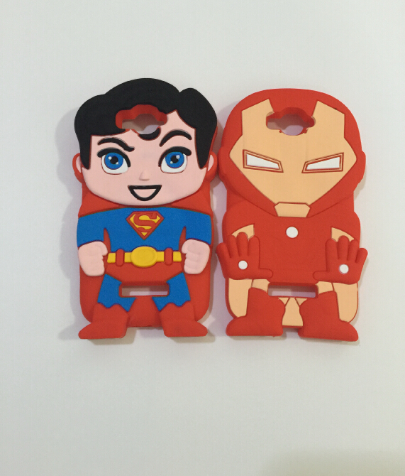 3D Super Hero Superman Iron man Soft Silicone Rubber Cover Case Alcatel One Touch POP C7 OT 7041D - ALEX ZHOU Store store