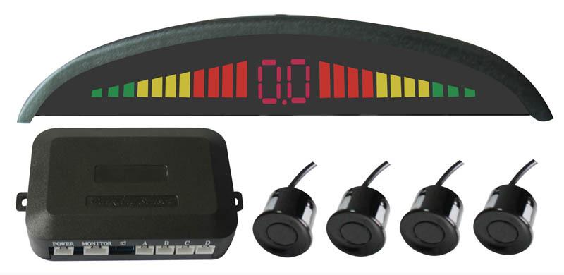 !Car LED Parking Sensor Monitor Auto Reverse Backup Radar Detector System + 4 rader - Kingsun Technology Co;LTD store