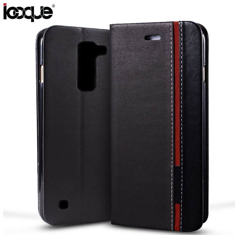 iCoque Wallet Cover Case For LG K10 Tri-color Stitching Flip Cover For LG K10 Phone Coque Fundas(China (Mainland))