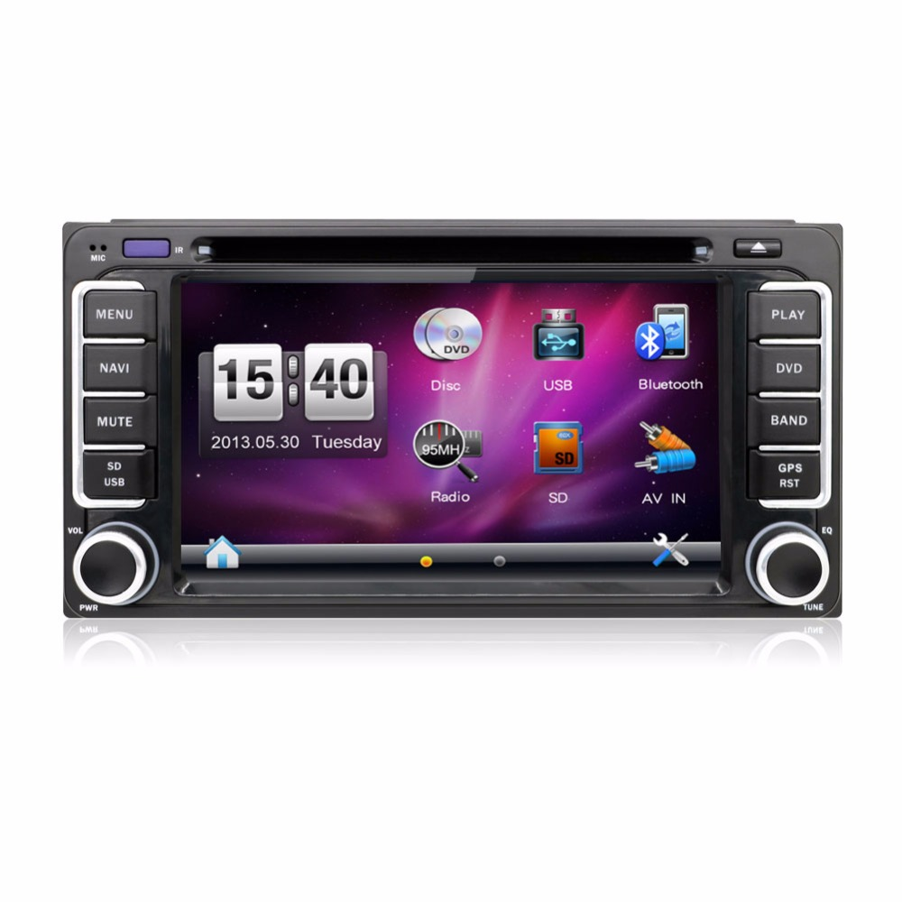 Newest 200*100 double din Car DVD Player PC GPS Navigation Stereo for Toyota Multimedia Screen Universal Head Unit Double BT MP(China (Mainland))