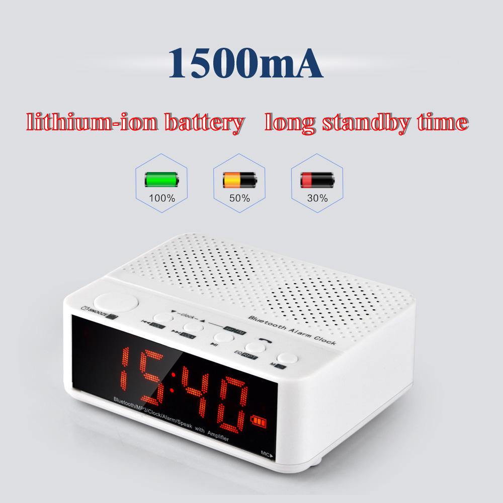 Portable Wireless Bluetooth Car Kit USB Alarm Clock Speaker for Smart Phone Computer Tablet FM Stereo Digital Media Players(China (Mainland))