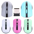 2 4G USB Wireless Optical Mouse 400 1600DPI Conversion Cordless Mice Receiver Mini Adapter Plug And