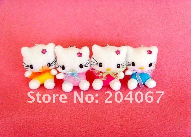 hello kitty soft toys new stuffed plush dolls 7cm size and colors mixed sale free shipping 30pcs/lot h579