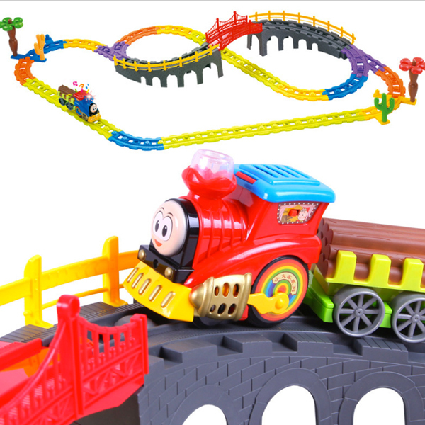 D1020 Free shipping Thomas train track electric music suits educational toys for children toys for holiday gifts<br><br>Aliexpress