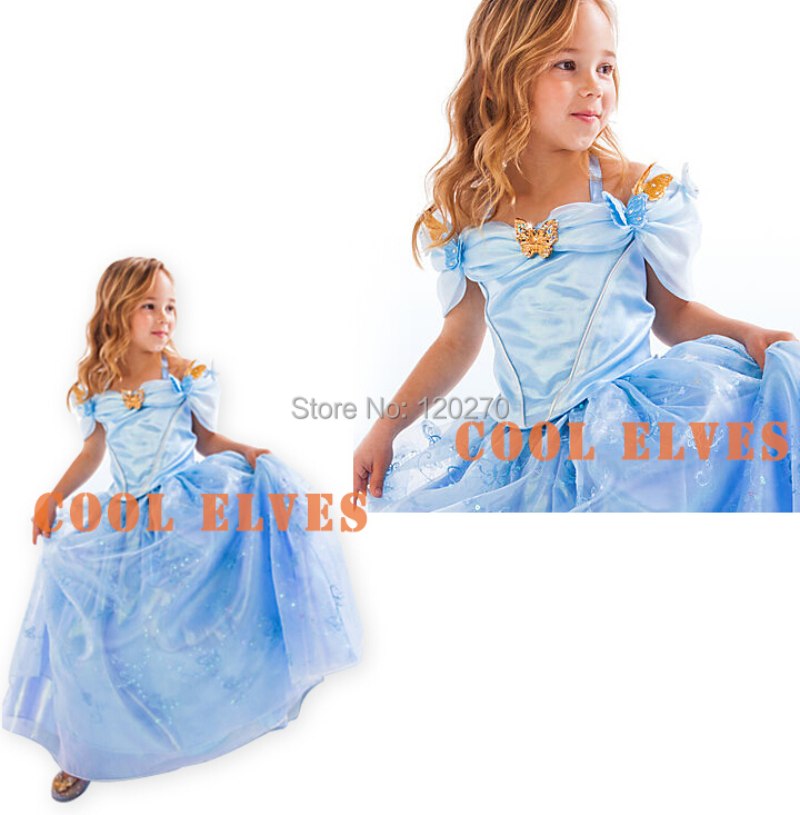 Summer Baby Girls Cinderella Princess Slip Dress Children Tutu Sundress Lace Gauze One-Piece Ball Gown - Honey Baby's store