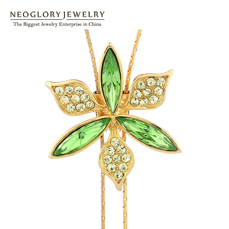 Neoglory Austrian Crystal Tassel Long Necklaces Pendants Women Brand Girl Fashion Statement jewellery Gift 2017 New Hot JS3 - NEOGLORY JEWELRY store