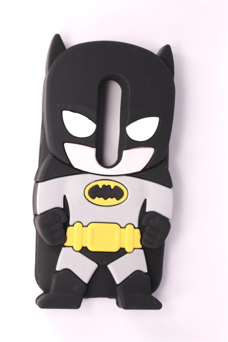 Mobile Phone Case Motorola Moto G3 (G 3rd Gen 2015) 3D Cartoon New Style Batman Pattern Soft Silicone Back Cover - Rose Angel store