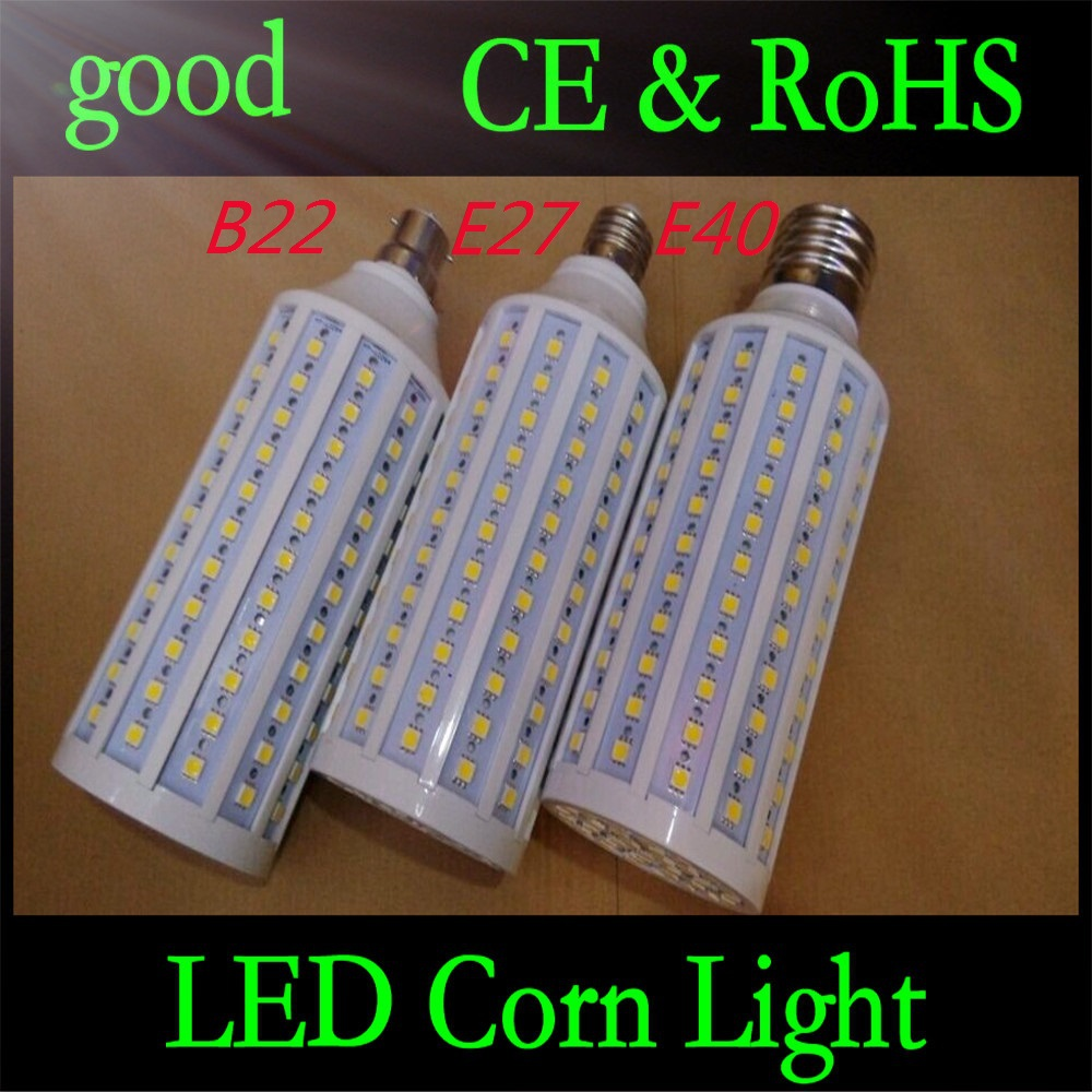 1pcs E27 B22 E40 30W 5050 SMD 165 LED Chip Corn Light AC110V/220V Warm/White Bulb Maize Lamp Home Indoor Outdoor street lighting(China (Mainland))