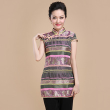 High Quality Chinese Style Mandarin Collar Women Tang Suit Tops Blouse Vintage Traditional Chinese Shirt S M L XL XXL XXXL T44