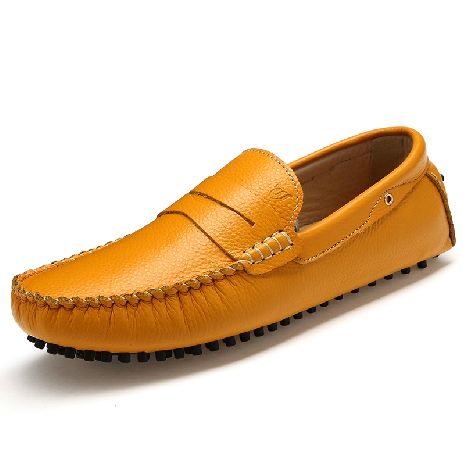 Men flats Male Moccasins genuine leather shoes fashion trend foot wrapping lazy casual 2014 new - JIUJIU Store store