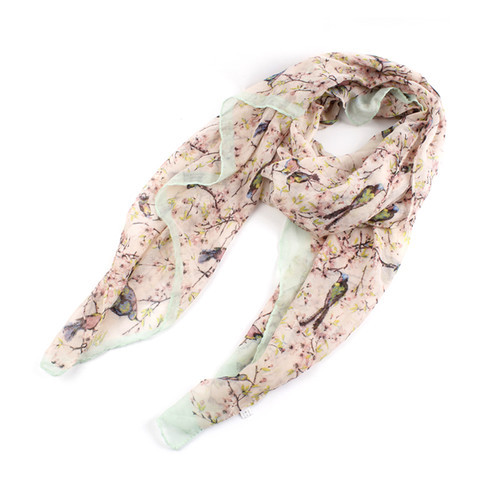 2015 New Brand Fashion Scarf Flower Bird Tree Branch Print Scarves Women Spring Autumn Shawls 5 Colors - Shenzhen Sundah Tech Co., Ltd.(Craft & Gift Dept. store)