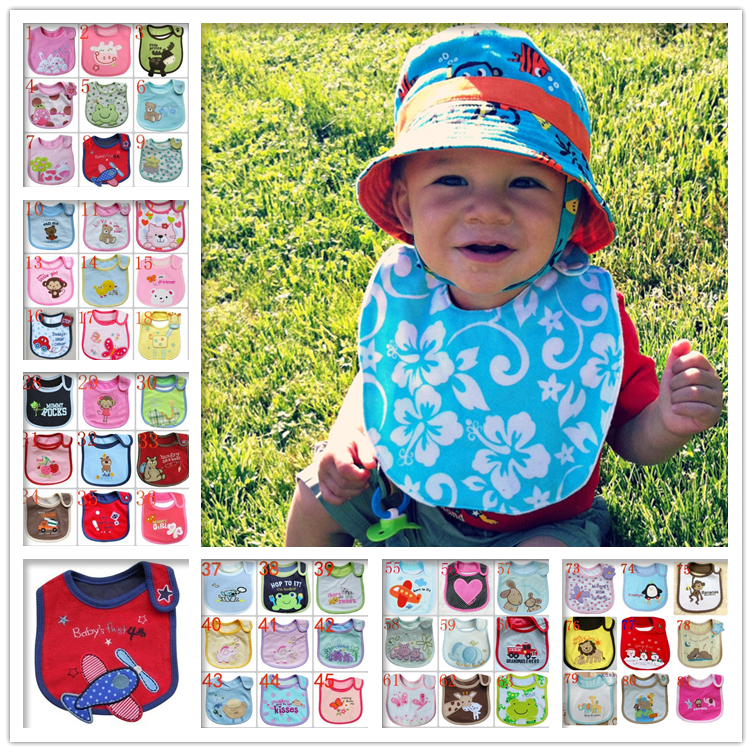 Hot Sale Carter's Cotton Baby Bibs Infant Saliva Towels Baby Waterproof Pinny Cartoon Baby Wear With 100 Models Free Shipping(China (Mainland))