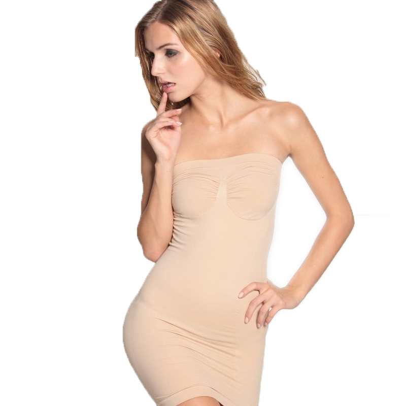 Slimming Body Shaper Dress Adjustable Underwear Control Slips Full Slips Tube Dress Slip Boob Tube Shapewear Bodycon Lady Girl