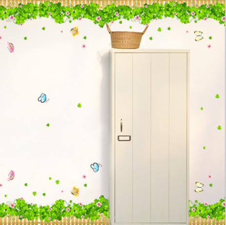 DIY Removable vinyl Butterfly Flower Home Decoration photo wallpaper Wall Stickers tree wall sticker AM7005 - dansy's store