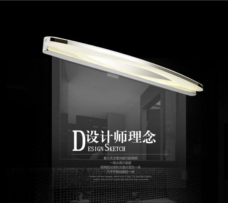 New Modern 8-11W 40cm/54cm LED wall lamp bedroom headboard bedside lamp LED bathroom light mirror wall lamp sconce lampe deco(China (Mainland))