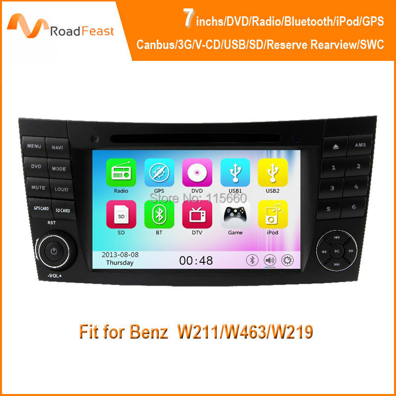 Car Head Unit Sat Nav DVD Player Mercedes Benz E-Class W211/W463/W219 GPS Navigation iPod Radio Stereo System Canbus - Roadfeast Parts store