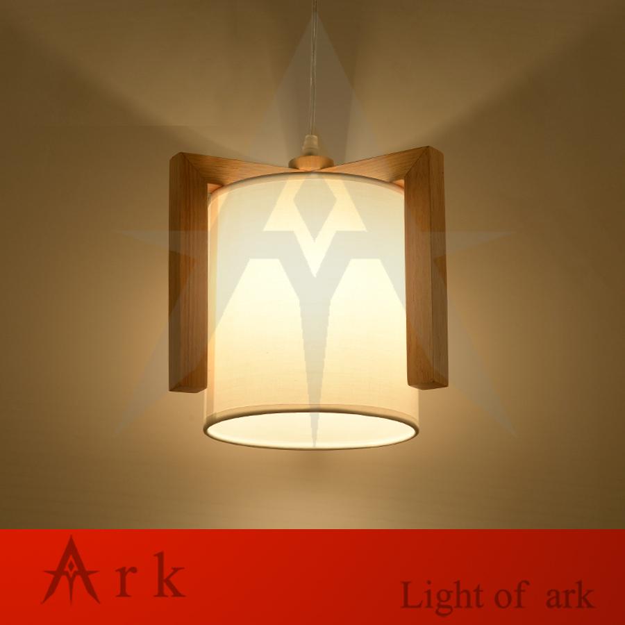 Фотография Creative Design Wooden LED Pendant Light Small CUBE Natural Wood Pendant Light Nordic Minimalist Suspension Homedecor Lighting
