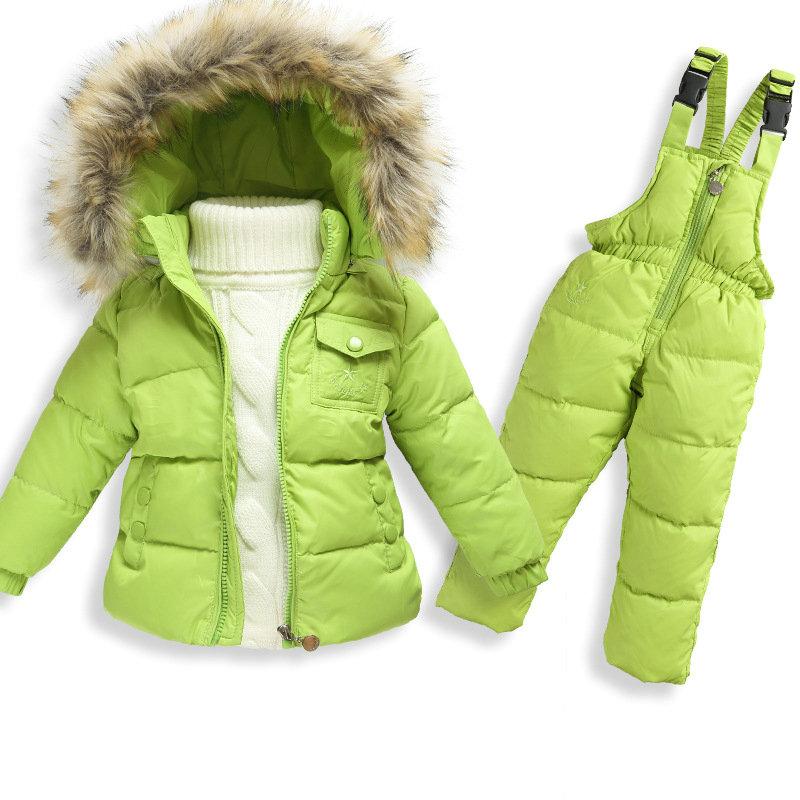 [Sashine kids]1-5 yrs Boys Winter White Duck Down Coat Girls Warm Down Jackets Children Outwear Clothing Set Down Pants<br><br>Aliexpress