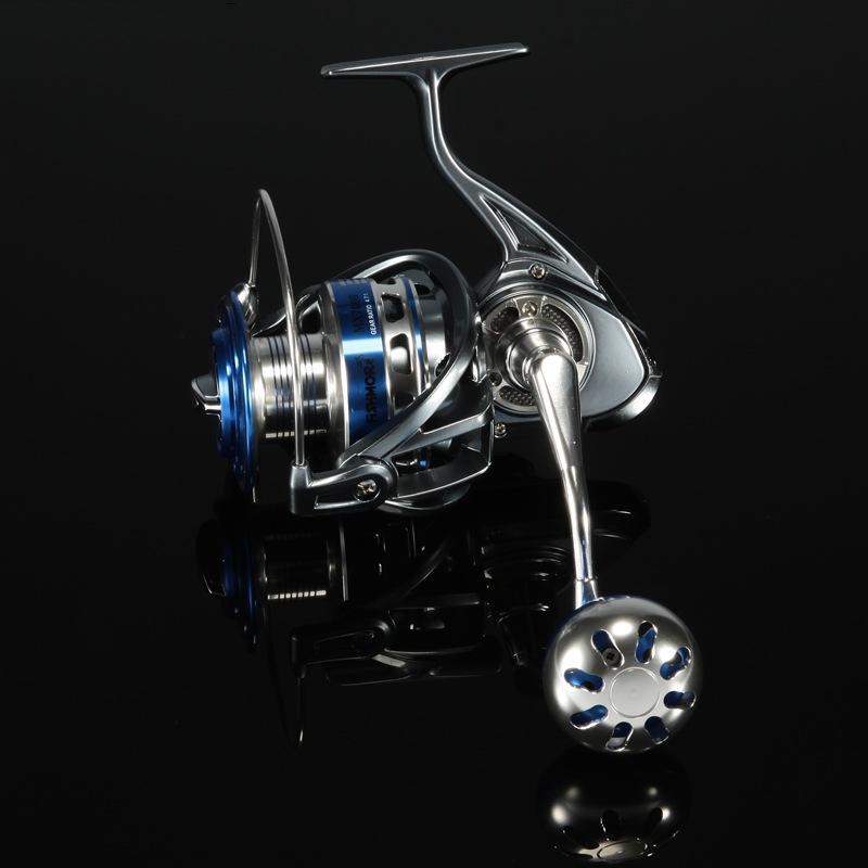 All Metal Spinning Boat Fishing Reel 5000 Saltwater 14+1BB Ball Bearing Gear Ratio 5.5:1 CNC Handle Fishing Vessel Max Drag 18Kg(China (Mainland))
