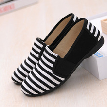2016 spring summer new Striped women shoes 3 colors Slip-On canvas shoes for women size 35-40