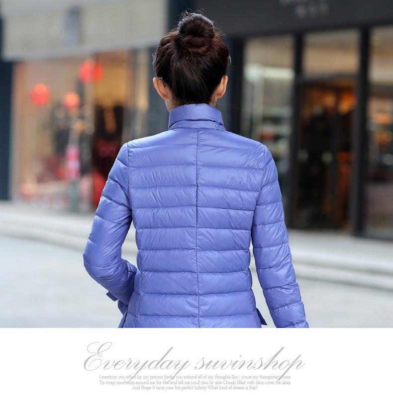 Yeni kış sıcak kadınlar 2016 ince Işık aşağı ceket kadın eğlence artı boyutu ceket kadın uzun aşağı ceket beyaz ördek aşağı 90% FLM205