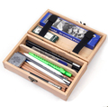 18Pcs wooden Foldable Pencil case art Set Pencil Eraser Extender Knife Art Supplies Stationery sketch set