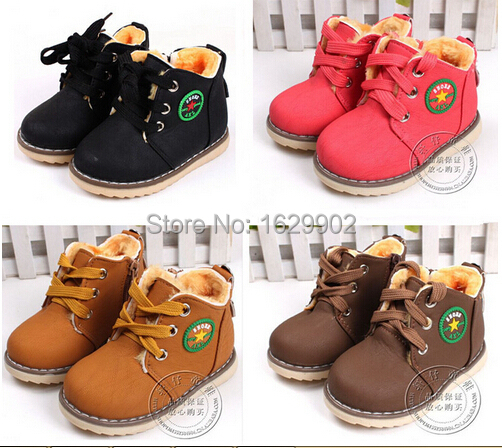 Size 21-30, Kids Wniter Shoes baby shoes bab thicken cotton-padded shoes children winter warm boots boys snow boots infant boots(China (Mainland))