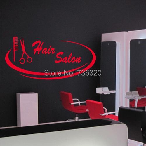 Hair spa beauty salon wall sticker hair salon sign for Stickers salon