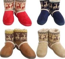 Trasporto libero di inverno in casa cotone imbottito scarpe termici delle donne del cotone stivali pacchetto coperta con morbida suola scarpe da casa(China (Mainland))