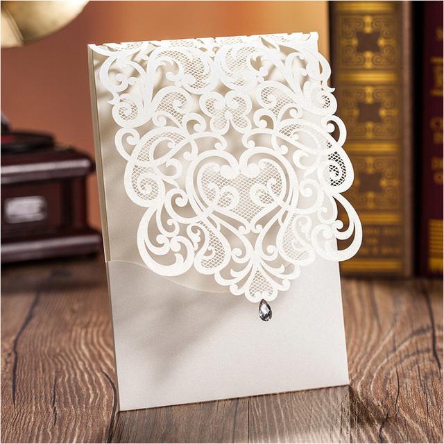 Aliexpress.com : Buy Elegant Laser Cut Wedding Invitations ...