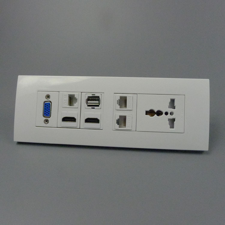 118 wall plate with universal power socket vga two ports. Black Bedroom Furniture Sets. Home Design Ideas
