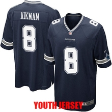 Dallas Cowboys Troy Aikman Tony Romo Roger Staubach Ezekiel Elliott Emmitt Smith Byron Jones Cole Beasley For YOUTH KIDS(China (Mainland))