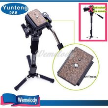 New Monopad Yunteng 288 Professional Photography tripod palo para self monopod+tripe Unipod Holder,VCT-288 for para camera