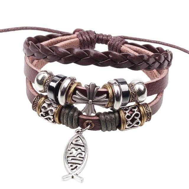 Men`s Leather Bracelet