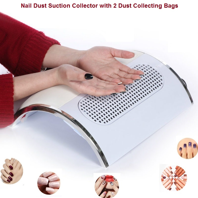 Powerful Nail Dust Suction Collector with 3 Fan Vacuum Cleaner Manicure Tools with 2 Dust Collecting Bags(China (Mainland))
