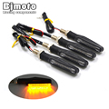 4PCS 12V Motorcycle Turn Signal Indicators Lights 12 LED Flashers Indicators Amber Blinker Motorbike Lamp For