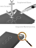 3gang 1way сенсорный выключатель света, 3gang Стеклянный выключатель Великобритании стандартный ac110-250v