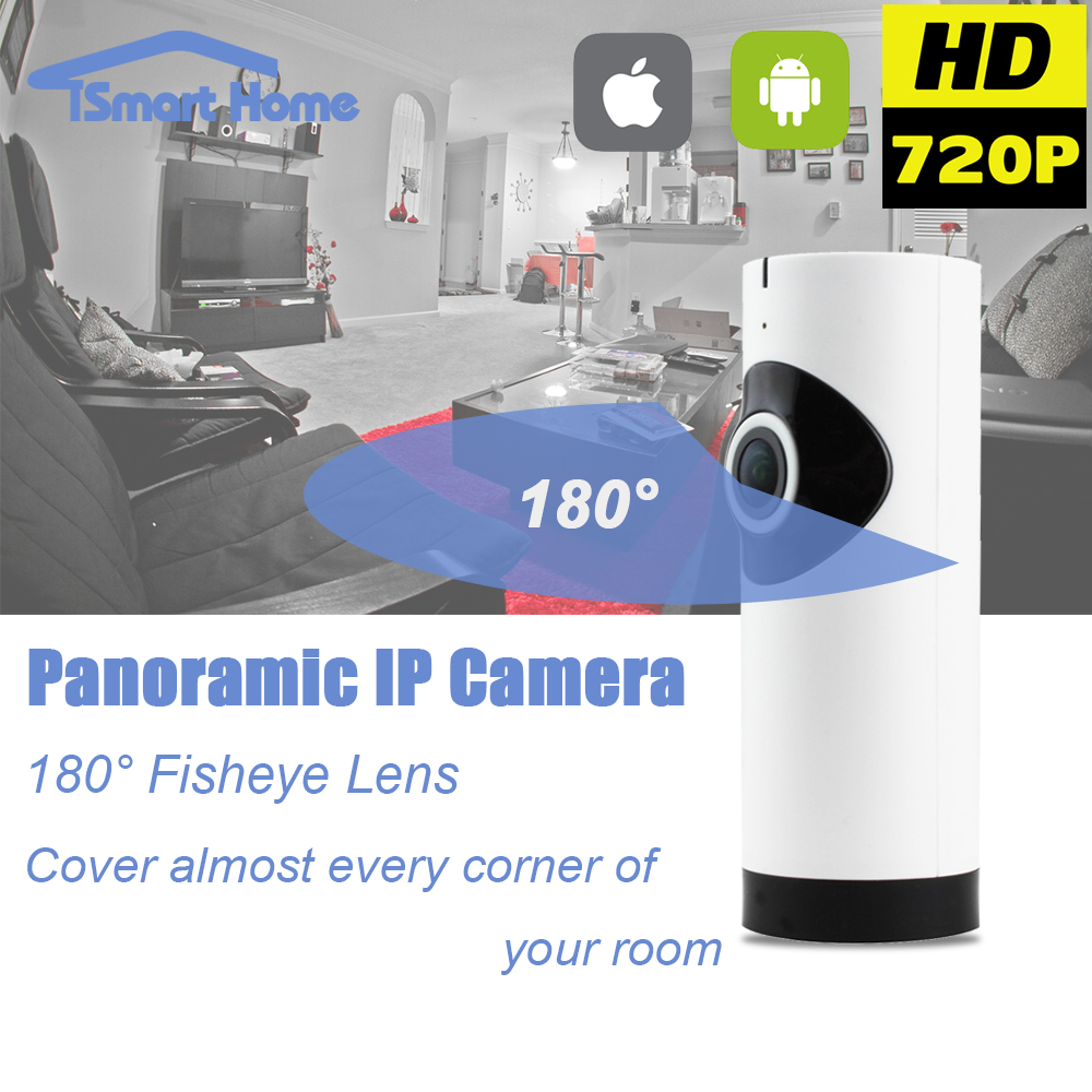 Fisheye 360 Degree Panoramic Wirelss IP Night Vision Camera WIFI P2P Onvif Network Camera SD Card IOS Android Hidden Home Cam(China (Mainland))