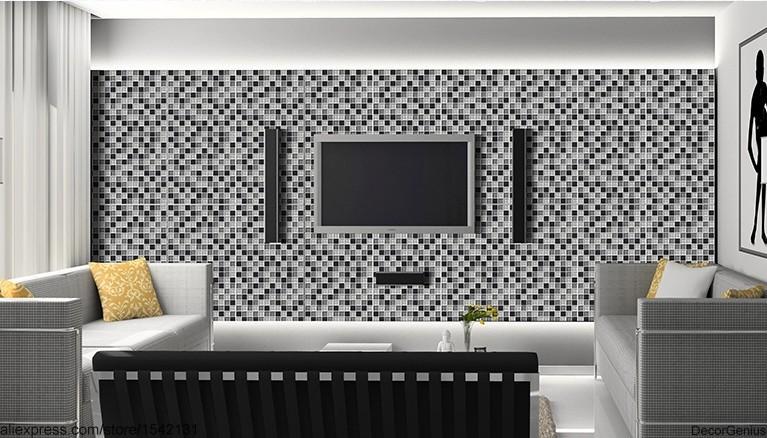 salle de bain plafond noir stickers carrelage salle de bains carrelage noir gris blanc plafond - Salle De Bain Plafond Noir