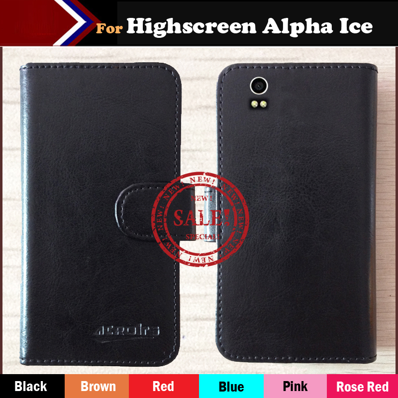 High Quality! Case Highscreen Alpha Ice Flip Leather Cell phone Slip-resistant Protective Cover Card Holder Bags Wallet - ShenZhen OYO Technology Co., Ltd. store
