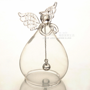 Praying Angel Girlfriend Wedding Romantic Gift Ideas Birthday Gifts Clear Glass Angel Chimes Home Decoration Christmas Ornament(China (Mainland))