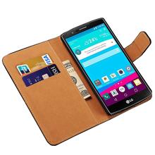Genuine Leather Case for LG G4 Optimus Phone Flip Wallet Back Cover Cases for LG G4