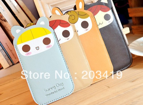 mobile phone PU leather sleeve bags cases holder cover cell phone pouches for Iphones,Mp3/4, other phones wholesale