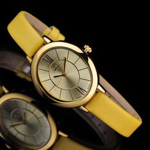 Ladies Wrist Watch Quartz Hours Best Fashion Dress Korea Bracelet Brand Leather Clock Oval Rome JA617