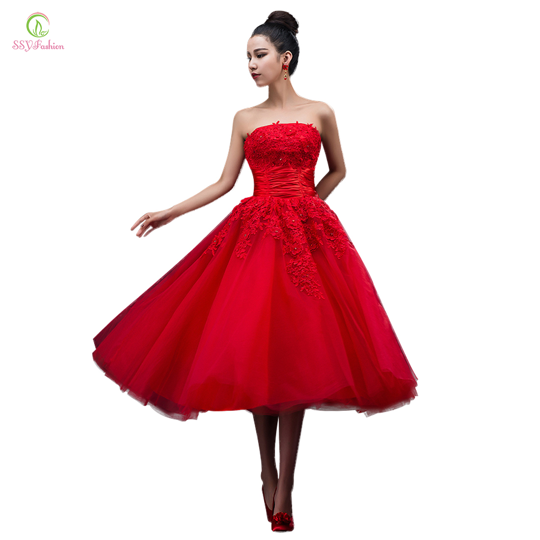 Aliexpress Buy Evening Dress 2015 New Arrival Red