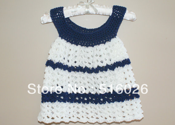 Wholesale vintage crochet baby princess dress, flower girl dresses, infant, striped, formal, ball gowns, newborn, custom 2 pcs