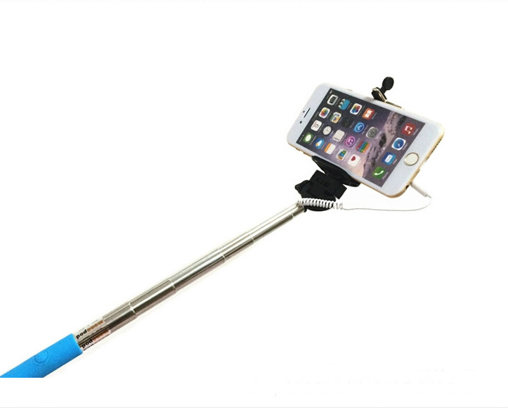 free shipping extendable monopod cable selfie stick camera tripod monopod for iphone 4 5 6. Black Bedroom Furniture Sets. Home Design Ideas