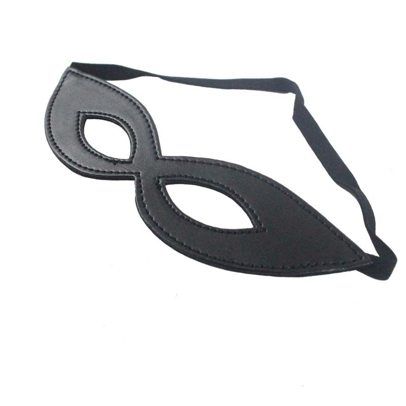 sex products sex furniture Fancy Dress Costume Black Sexy PU leather Mask Cutout Eye Mask for Masquerade Party Halloween(China (Mainland))