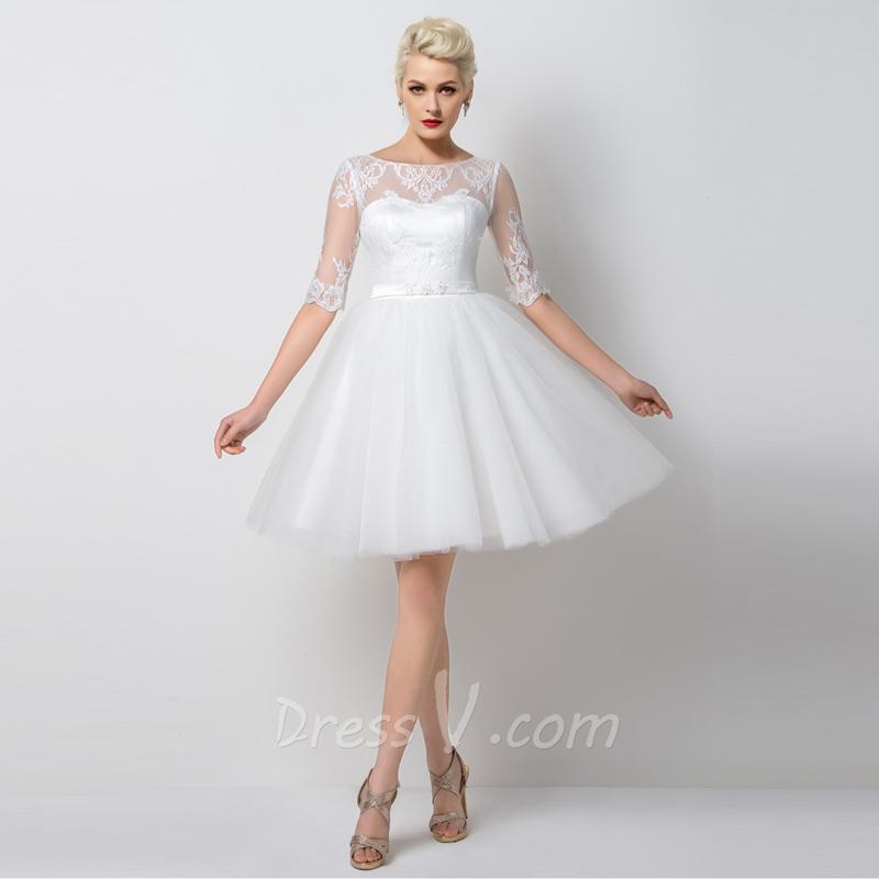 Buy dressv white short cocktail dresses for Formal short dresses for weddings