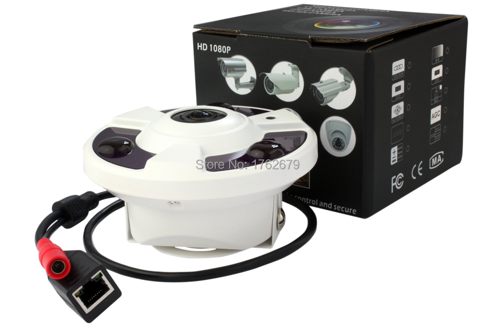 camera de surveillance interieur 360 d gr fisheye 4 cam ras en une ebay. Black Bedroom Furniture Sets. Home Design Ideas